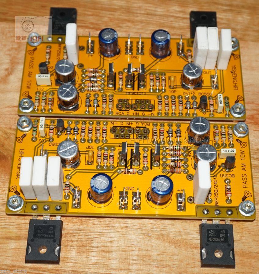 One pair PASS AM Single-ended Class A amplifier board IRFP90N20D 30W+30W L166-20 -HL(China (Mainland))
