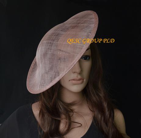 Blush pink fascinator base 1.3cm satin headband for sinamay fascinator hat.(China (Mainland))