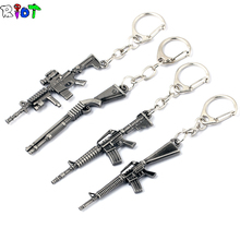Buy 4 Styles Weapon Gun Keychain Models CF FireWire Arms Gun Mode AK 47 Rifle Key Chain Chaveiro Military Model Llaveros Gift for $1.32 in AliExpress store