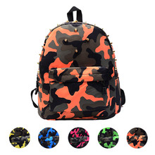 Feitong Children Girls Boys Travel School Bag Rivets Camouflage Backpack Cute Baby Toddler Free Shipping(China (Mainland))