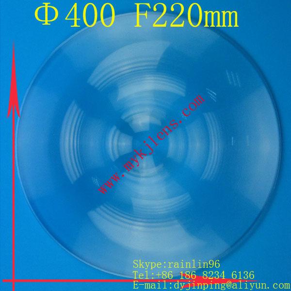 solar fresnel lens Focal length 220 mm Diameter 400mm Fresnel Lens big size circle fresnel lens hot lens(China (Mainland))