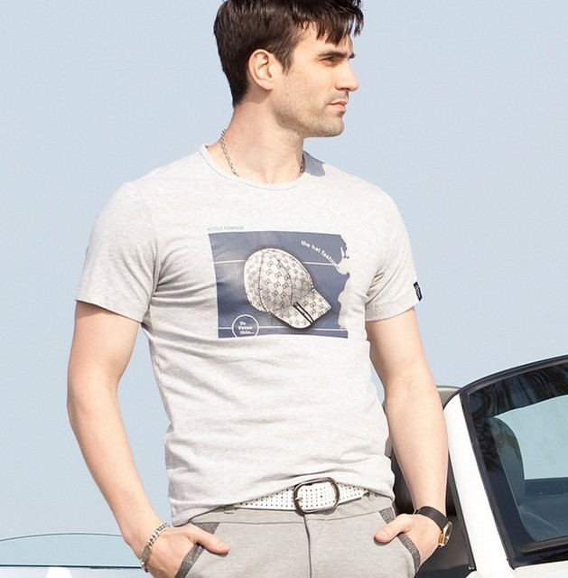 Hot sale!! Men's short sleeve O-Neck Pure cotton printed T-shirt 2013summer,A variety of patterns and colors