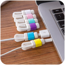 USB Cable Data Line Earphone Line Protector Cover Saver Liberator For iPhone  Links Headphone Cord(China (Mainland))