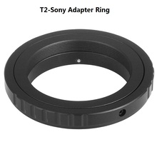 Buy Black Aluminum T2 T Mount Lens MA AF DSLR Adapter Ring Sony Camera A900 A700 A550 A350 for $4.99 in AliExpress store