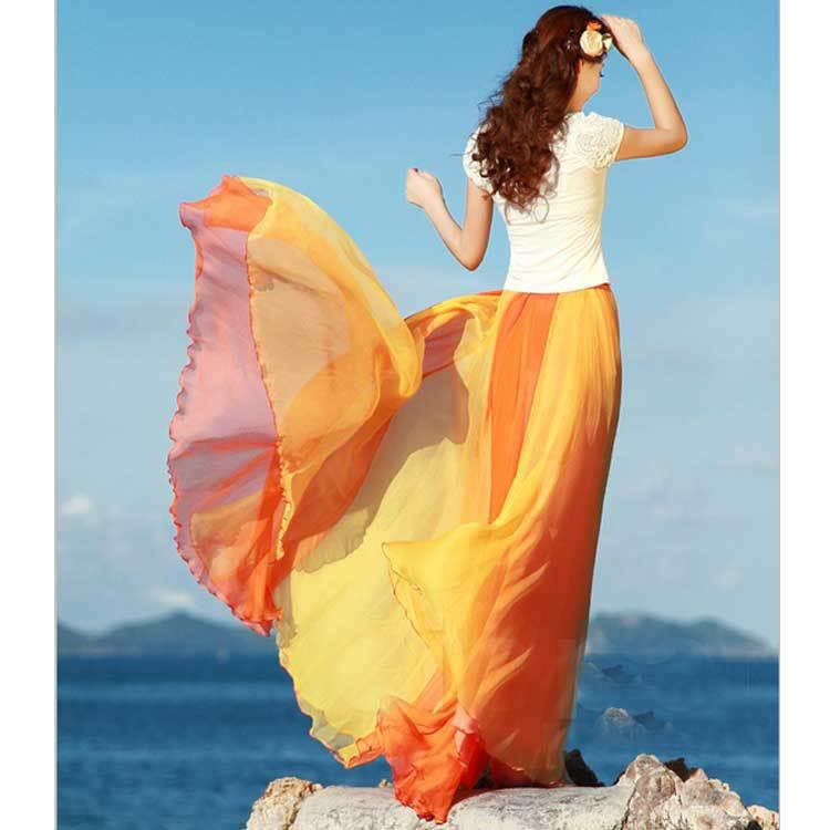 2015 Summer Style Women Beach Bohemia Long Beach Skirts Sexy Casual Maxi Skirts Free Shipping Plus Size(China (Mainland))
