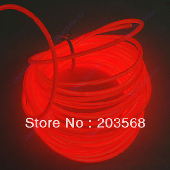 D19+Free Shipping 2 Pcs/Lot 5M Flexible Neon Light Glow EL Wire Rope Car Party 2 Different Colors