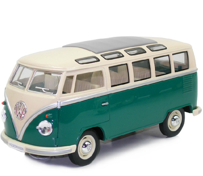 KINGSMART 1962 Volkswagen 1:24 Scale Diecast Bus Toys Onibus, Door Openable Alloy Model Car Toy For Children(China (Mainland))