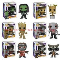 Funko POP Marvel: Guardians of The Galaxy - POP Groot Dancing Groot Gamora Drax Star Lord Rocket Raccoon PVC Action Figure toys