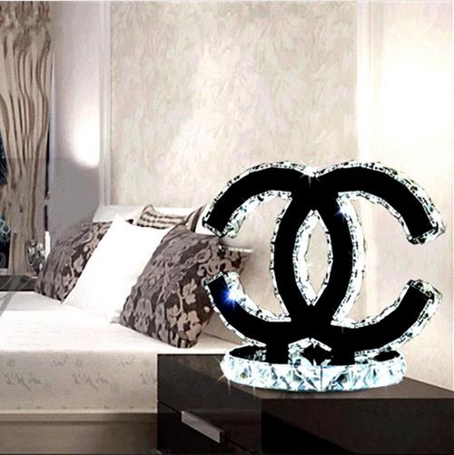 Modern Crystal table lamp bedside minimalist Stainless steel lighting decorative bedroom table lights(China (Mainland))