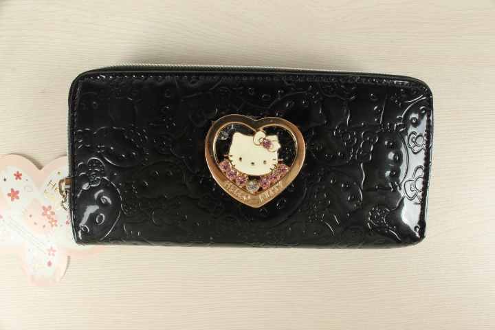 Hello Kitty Wallet purse Wallet Hello Kitty Bags Leather Purse Lady purse ladies purse good hand BKT0902Y(China (Mainland))