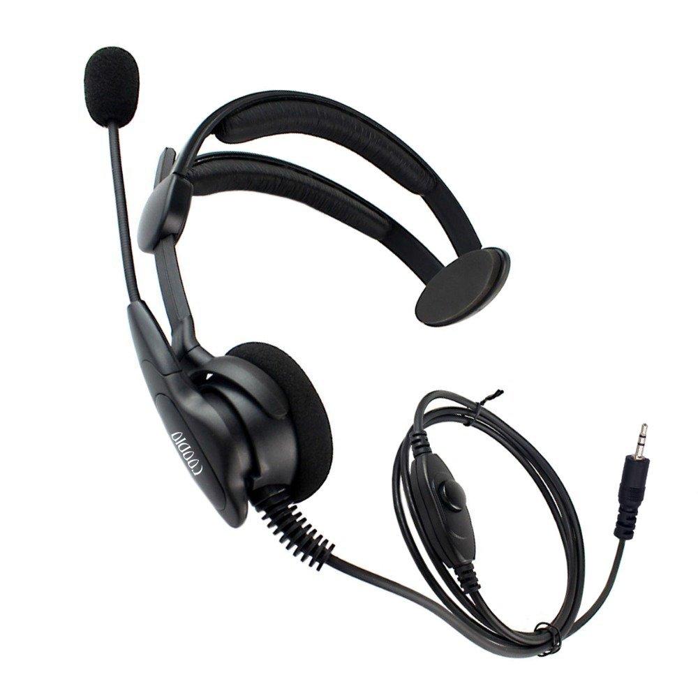 Cobra MicroTalk 2 Way Radio Earpiece 1 Pin Over-the-Head Headset Headphone Earphone For 1-Pin Cobra Walkie Talkie(China (Mainland))