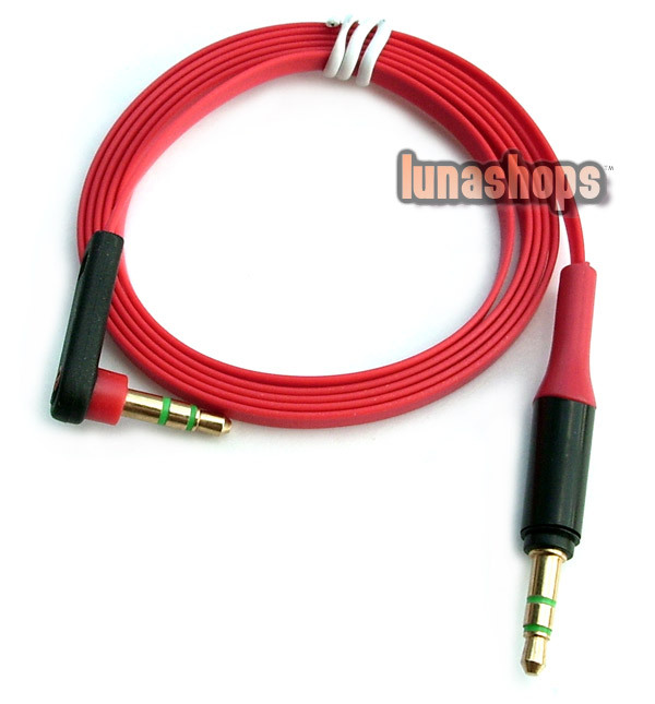 100cm Universal 90 Degree 3.5mm Male to Male Upgrade Audio cable For Monster headphone LN002222(China (Mainland))