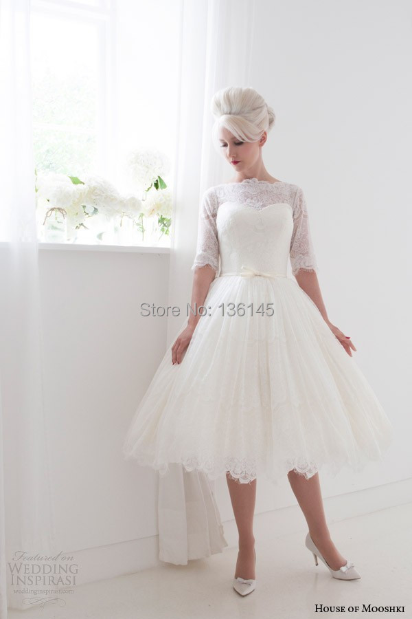 Lace Knee Length Wedding Dress - Wedding Dress Ideas