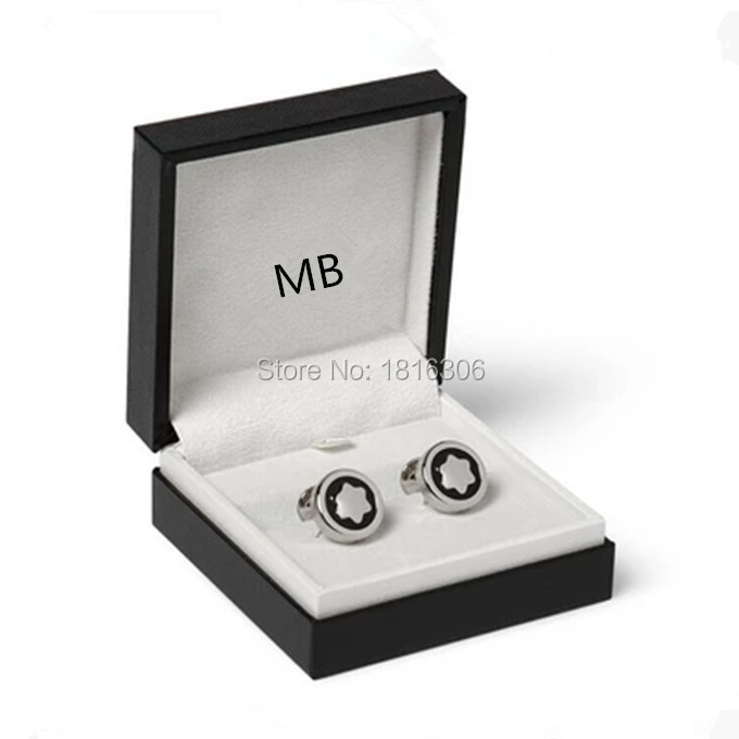 Luxury classis MB star stainless steel metal cuffs business fashion cufflinks silver color quality high engraving tetteri(China (Mainland))