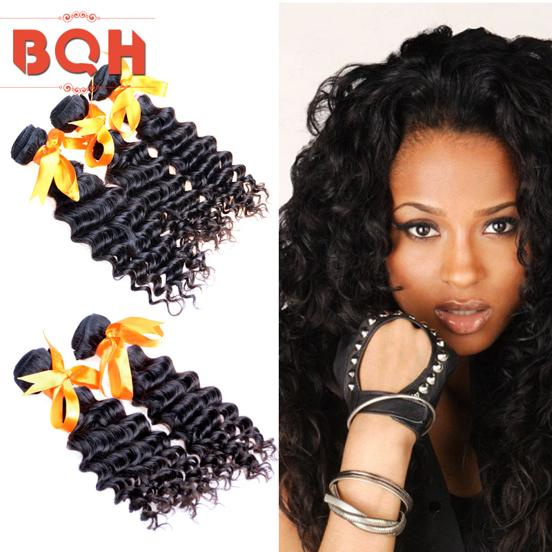 6A Unprocessed Virgin Human Hair Deep Wave,Natural Black Peruvia Deep Curly Virgin Hair Products,Buy Deep Wave Queen Hair Weave(China (Mainland))