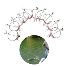 Buy Fishing Connector Wire Trace Leader Rig 2 Arm Fishing Lure Bait Swivel Rings Stainless Steel Fishing Tackle Box Tool 20Pcs for $8.71 in AliExpress store