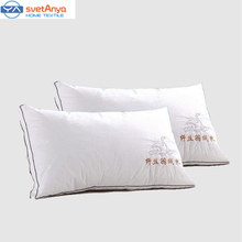 2016 new Five star hotel bedding set pillow100% cotton neck pillow 3D100% feather silk pillow 48*74 Wholesale and retail(China (Mainland))