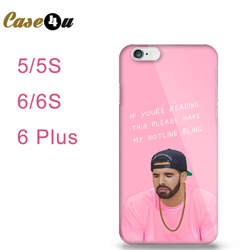 Poor Crying Drake Hard Cover Back Case for iPhone 5 5s 6 6s Plus Hotline bling if you are reading this please buy my case(China (Mainland))