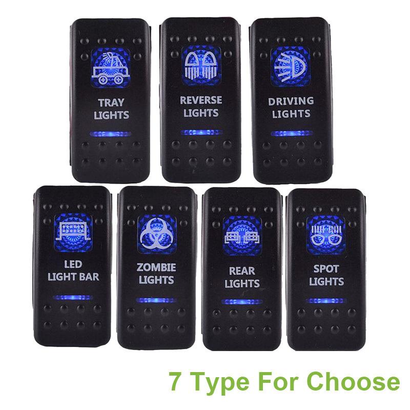1PCS 12v Led Rocker Switch 5 pin 20A Bar ARB Carling Toggle Rocker Switch Switch Blue LED Light FOR audi a4 b6 golf 4 passat b6(China (Mainland))