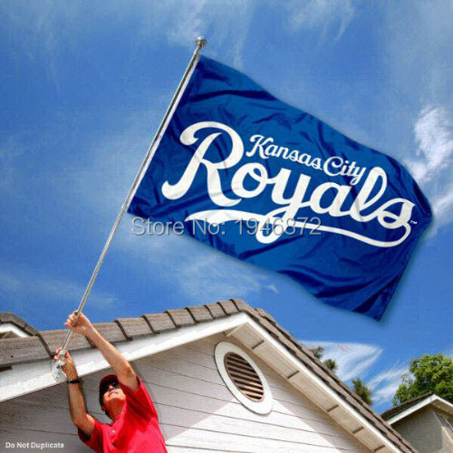 Kansas City Royals Banner Flag 3' x 5' Custom Football Hockey Baseball Flag(China (Mainland))