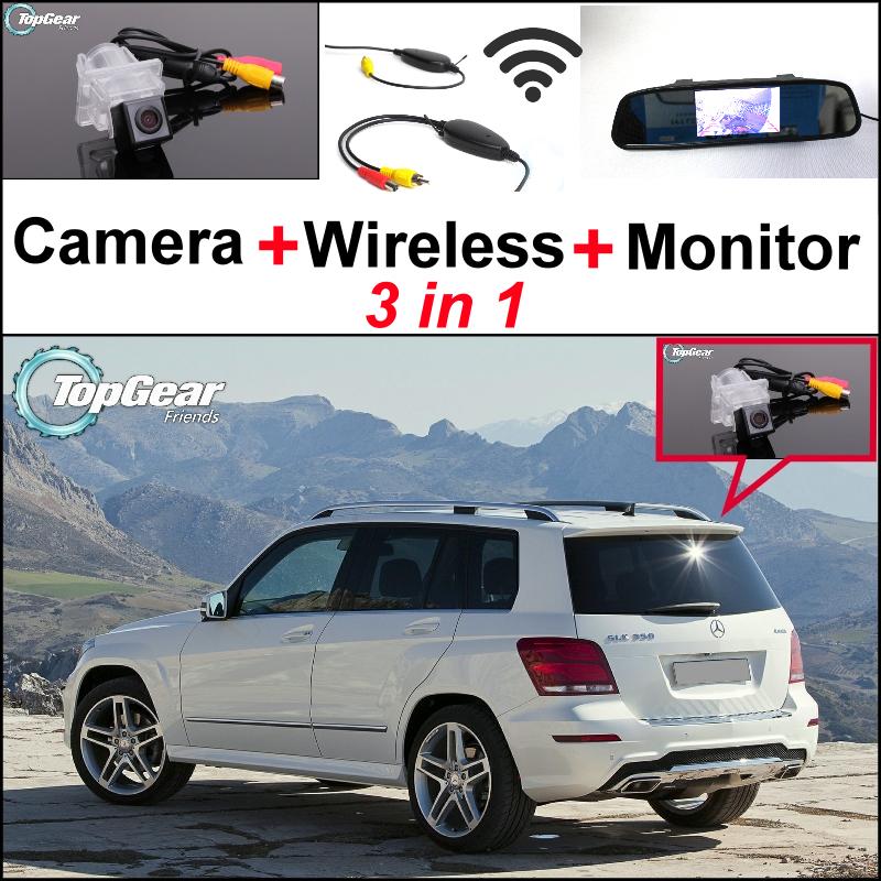 Special wifi camera wireless receiver mirror monitor for Mercedes benz glk350 backup camera