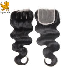 Unprocessed Brazilian Virgin Hair With Closure 4Pcs Lot Hair Bundles With Lace Closures Brazilian Body Wave