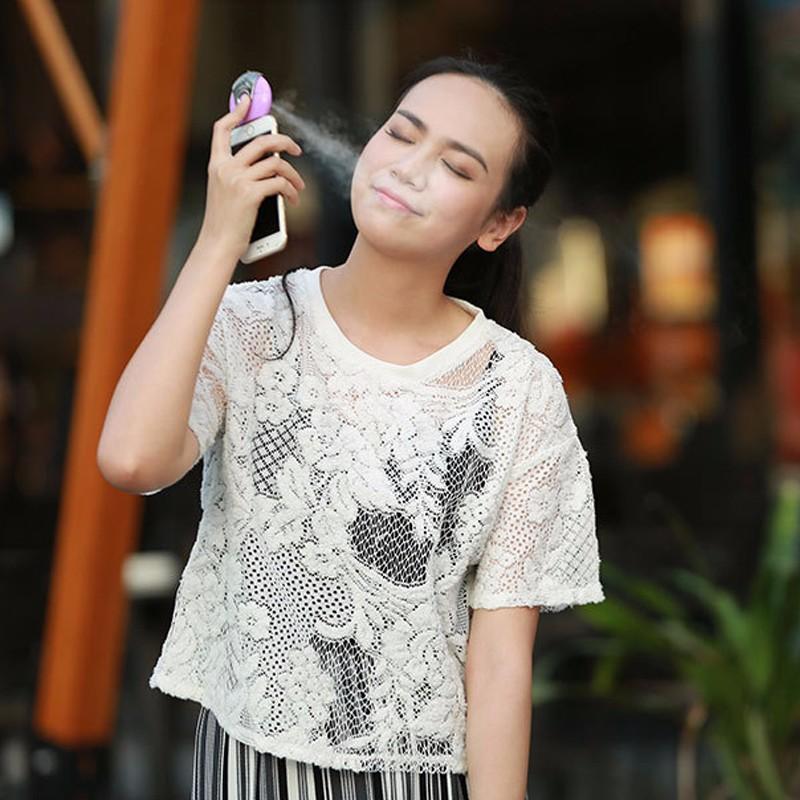 Sıcak Satış Nemlendirici Güzellik Enstrüman Su Ikmal Telefon için Mini Taşınabilir Artefakt Nemlendirici Sprey Aparatı