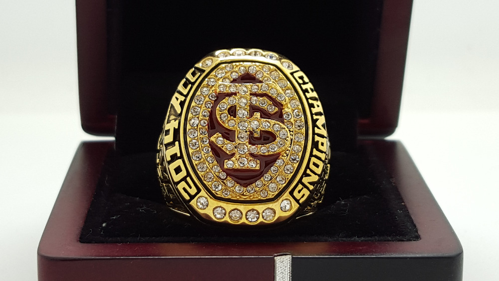 2014 2015 FLORIDA STATE FSU SEMINOLES ACC NATIONAL Championship ring 8-14S copper solid Ingraved inside(China (Mainland))