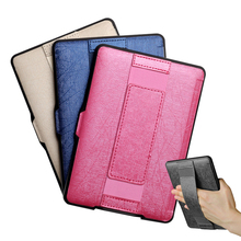One Hand Control Leather Case for Kindle paperwhite 2016 8th Generation e-reader Texture PU cover Free Shipping(China (Mainland))