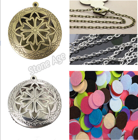 Free Shipping 20pcs Antique Silver Aromatherapy Lockets Essential Oil Diffuser Necklace Locket Diffuser Lockets Perfume Lockets(China (Mainland))