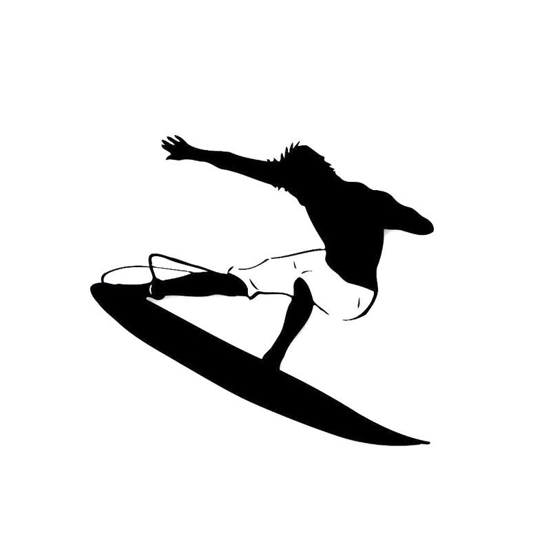 12.2*14.6CM Like Sea Surfing Car Stickers Cartoon Motorcycle Vinyl Decals Black/Silver C7-0598(China (Mainland))