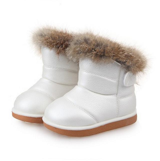 2016 Зимы Детей Девочка и Мальчики PU Обувь Дети Сапоги обувь размер 5.5 6.5 7 8 9 10 11 11.5 12.5