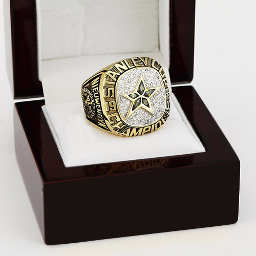 1999 NHL Dallas stars Hockey Stanley Cup Championship Ring With High Quality Wooden Box Christmas Fans Best Gift(China (Mainland))