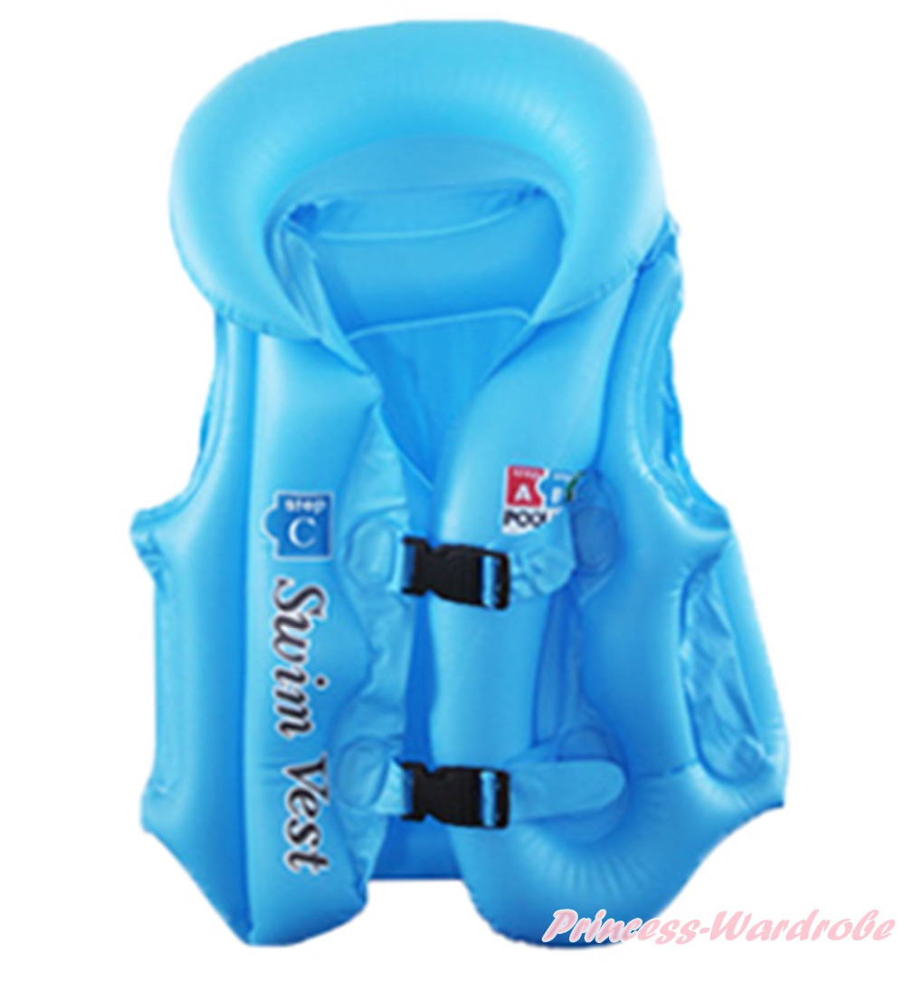 Inflatable Blue Life Jackets Vest Unisex Kids Outdoor Water Sports Boating PFD MASWI004(Hong Kong)