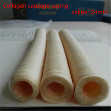 3pcs/Lot halal sausage casing total 42meters Diameter 24mm artificial sausage Collagen casing free shipping(China (Mainland))