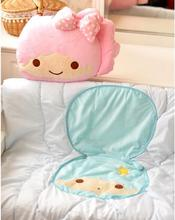 candice guo! cute plush toy little twin stars beauty girl boy cushion air condition quilt blanket birthday gift 1pc(China (Mainland))
