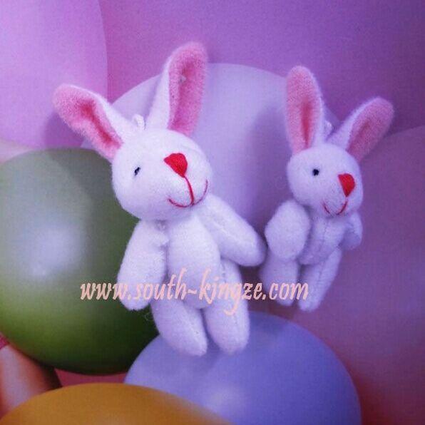 100 pcs/lot Free shipping 4cm/6cm lovely Tinny Christmas gift wedding decoration Key chain Teddy white rabbit for children gift(China (Mainland))