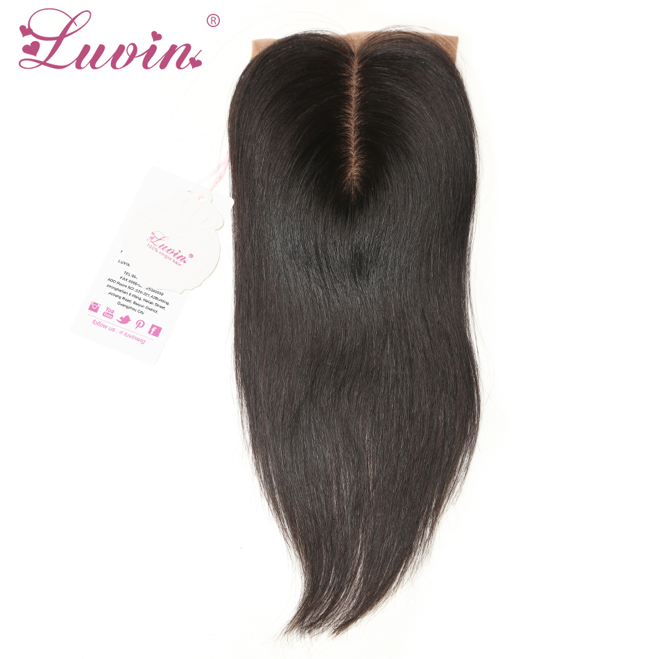 Brazilian Virgin Hair Silk Base Closure Straight Bleached Knots Unprocessed Human Hair Silk Top Closure 4*3.5 Middle Part(China (Mainland))