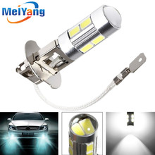 Buy H3 10 led car light Fog led high power lamp 5630 smd Auto car led bulbs Car Light Source parking 12V 6000K Headlight White for $1.81 in AliExpress store