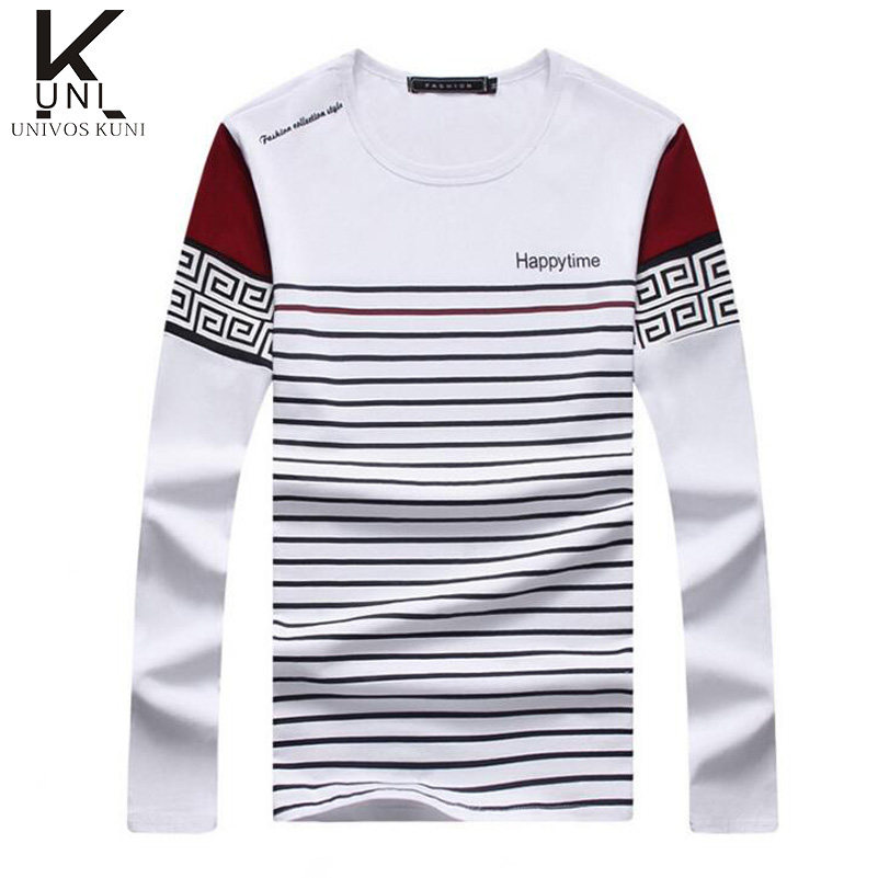 2016 Spring Autumn New Casual Mens T Shirts Men Cotton O