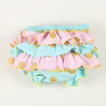 10 pcs / lot Ruffle Cotton Baby Bloomers Diaper Cover Infant Bloomers Newborn Shorts Gold Dot Newborn Baby Bloomers Disper Cover(China (Mainland))