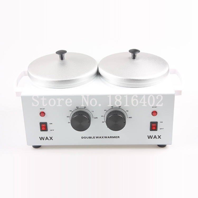 Pro double pot paraffin wax warmer paraffin wax melting machine paraffin wax heater with temperature controlled for salon use(China (Mainland))
