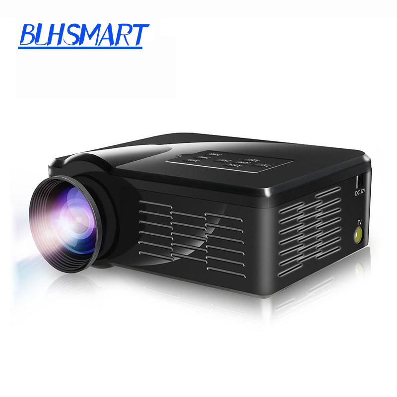 Newest 2016 1300Lumens LCD LED HD Video 3D Home Theater Mini TV Projector Proyector Beamer Projetor factory wholesale(China (Mainland))