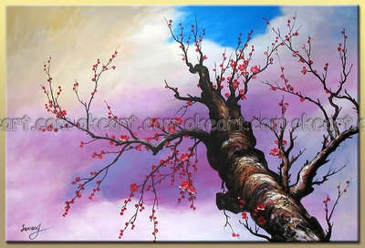 100% hand painted free shipping High quality Stretching into Sky Abstract home oil paintings on canvas Living room decoration(China (Mainland))