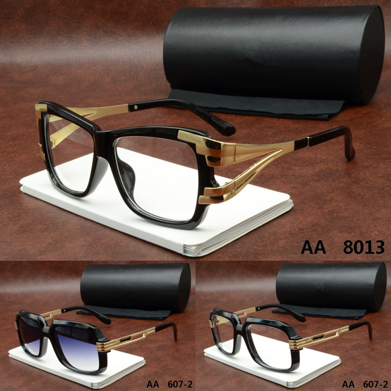Europe New style Top quality metal Classic cool men women Clear Grey Lens black sunglasses aviator frame Wild with original BOX(China (Mainland))