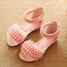 New Children Shoes for Summer Sandals for girls kids with Lace and Beads Decorating Child Shoes Girls Sandals(China (Mainland))