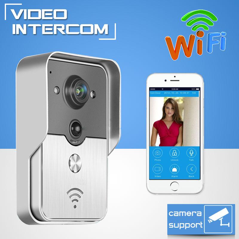 New Hot HD 720P Wifi Doorbell Camera Wireless Video Intercom Phone Control IP Door Phone Wireless Door bell IOS Android(China (Mainland))
