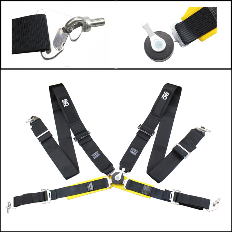 "Seat Belts Style Competition 4 Point Snap-In 3"" Seat Belt for FIA 2020 Racing Harness safety belt seat harness with Camlock(China (Mainland))"