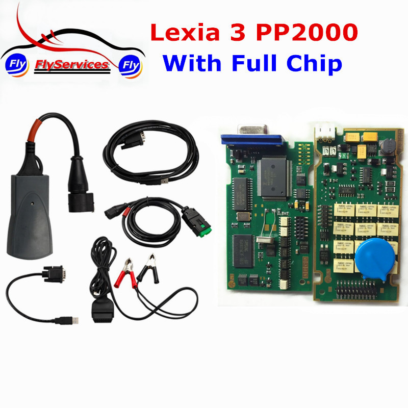 2016 Newly Lexia3 Lexia 3 Full Chip For Citroen For Peugeot Diagnostic Tool Lexia-3 PP2000 With Newest Diagbox 7.61 Arrival(China (Mainland))
