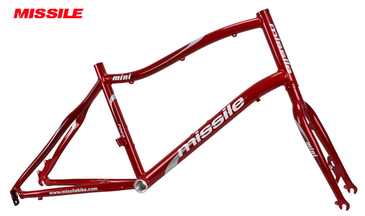Free shipping Missile mini pro Aluminum Alloy red color Mini bike bicycle 20  frame 451 406 wheels fit for Disc brake<br><br>Aliexpress